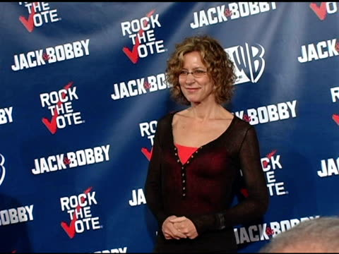 christine lahti at the rock the vote at warner brothers in burbank, california on september 29, 2004. - rock the vote stock-videos und b-roll-filmmaterial