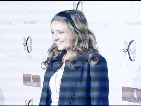 christine lakin at the nicole khristine jewelry launch featuring dj am, grandmaster flash and macy gray performing the first ever turntable symphony... - macy gray stock videos & royalty-free footage