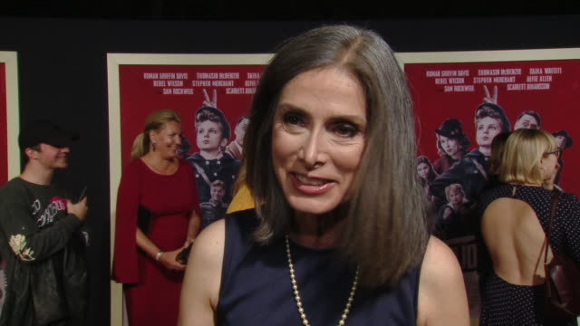 """interview christine leunens on the novel and working with taika waititi at the """"jojo rabbit"""" los angeles premiere presented by fox searchlight... - fox searchlight pictures stock videos & royalty-free footage"""
