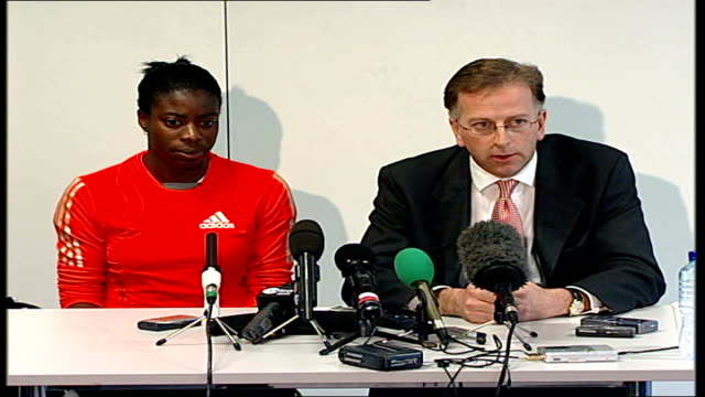 christine ohuruogu press conference christine ohuruogu press conference sot i performed as well as i could on the day [at the 2007 world... - sports period stock videos & royalty-free footage