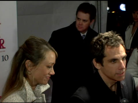 Christine Tayler and Ben Stiller at the 'The Pink Panther' World Premiere at the Ziegfeld Theatre in New York New York on February 6 2006