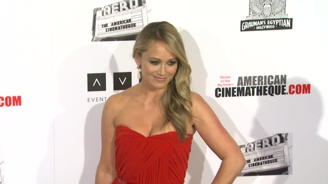 christine taylor at american cinematheque 26th annual award presentation to ben stiller 2012 on in beverly hills, ca. - christine taylor stock videos & royalty-free footage