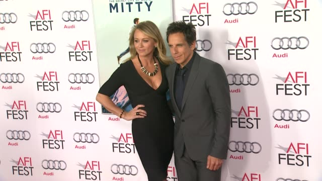 Christine Taylor Ben Stiller at AFI FEST 2013 Premiere Of The Secret Life Of Walter Mitty in Hollywood CA on
