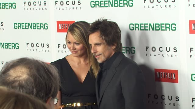 christine taylor, ben stiller at the 'greenberg' premiere at hollywood ca. - christine taylor stock videos & royalty-free footage