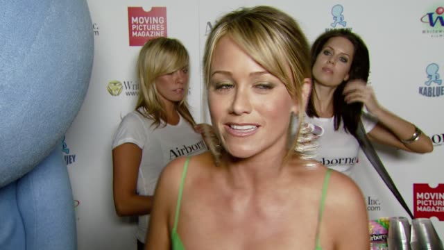 christine taylor on her involvement in the film, the theme of the movie, if she and her husband ben stiller help each other make career decisions,... - christine taylor stock videos & royalty-free footage