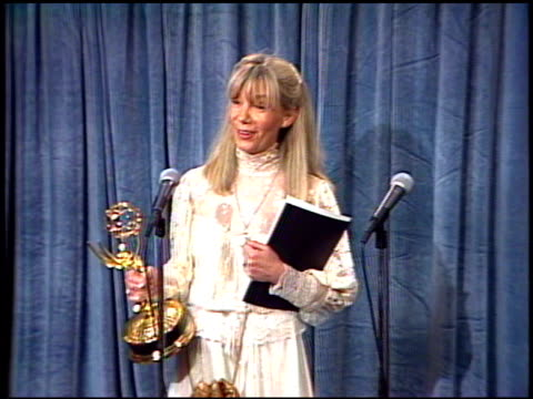 christine wincer at the 1989 emmy awards backstage at the pasadena civic auditorium in pasadena california on september 17 1989 - pasadena civic auditorium stock videos & royalty-free footage