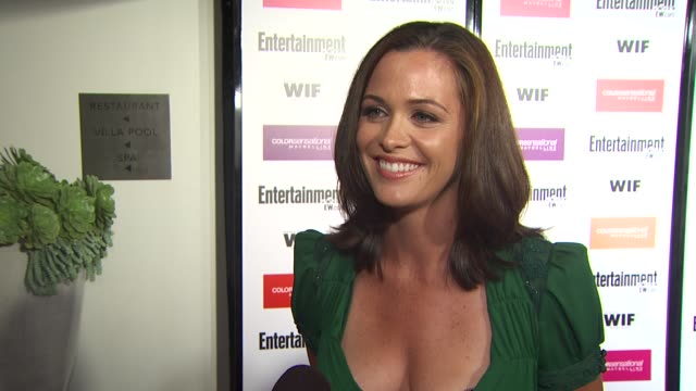 christine woods on the event, emmy week. at the entertainment weekly - women in film pre-emmy party at west hollywood ca. - pre emmy party stock videos & royalty-free footage