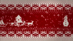 Christmas 2d animation on a knitted texture. Looping animation.