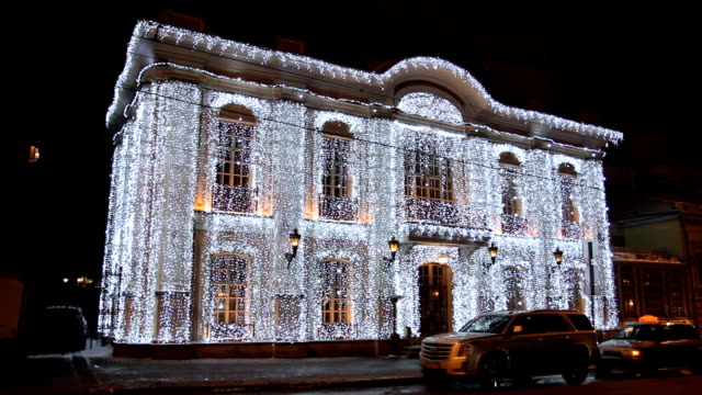 christmas and new year decoration of moscow - facade stock videos & royalty-free footage