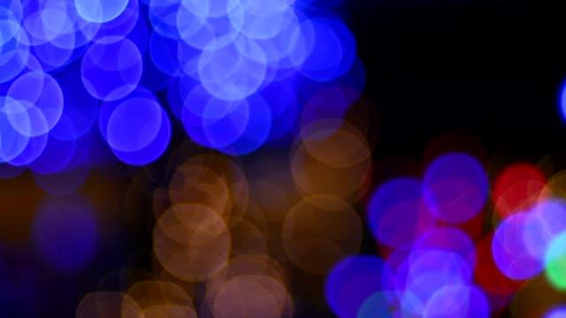 Christmas and New year season reflect bokeh of lighting as abstract background