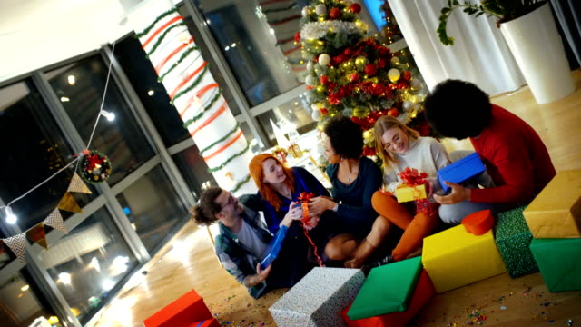 christmas and new year's party at home - new age stock videos & royalty-free footage