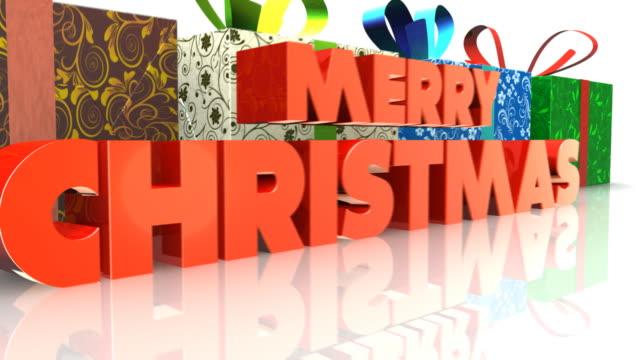 Weihnachten-animation fügen Sie Ihr logo