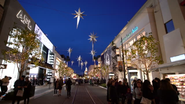 christmas at the grove - the grove los angeles stock videos & royalty-free footage