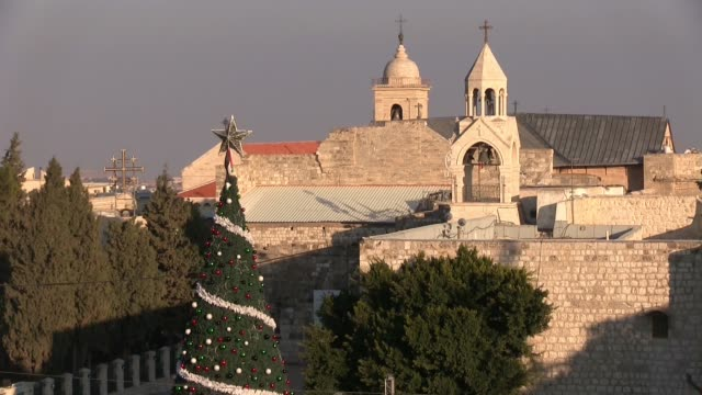 christmas atmosphere in bethlehem - church of the nativity stock videos and b-roll footage