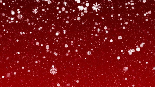 4k christmas background animation - snowflakes, red background - snowflake stock videos & royalty-free footage