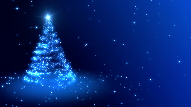 christmas background blue - christmas tree stock videos & royalty-free footage