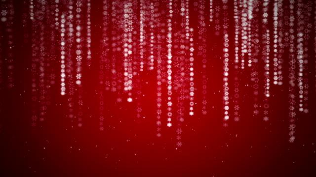 vídeos de stock e filmes b-roll de fundo de natal de flocos de neve códigos/a chover aleatório - código binário