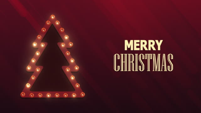christmas background. retro christmas light sign - template stock videos & royalty-free footage