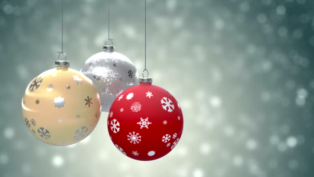 christmas background - christmas bauble stock videos & royalty-free footage
