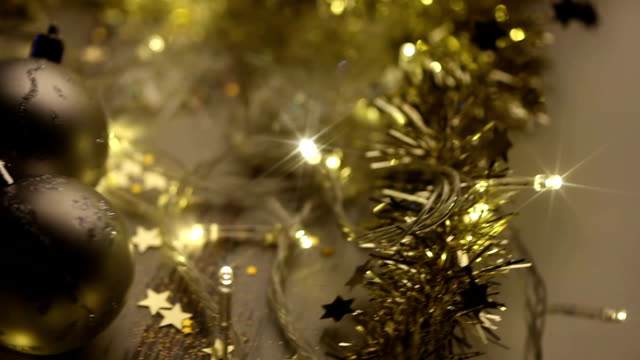 christmas background - fairy lights stock videos and b-roll footage