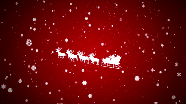 christmas background with santa claus - sledge stock videos & royalty-free footage
