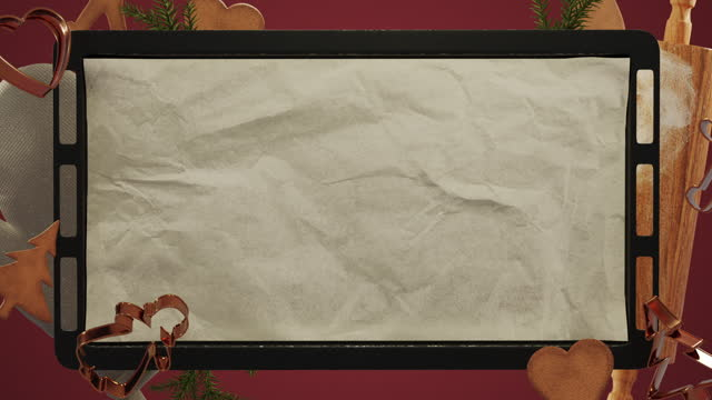 christmas baking background - levitation stock videos & royalty-free footage