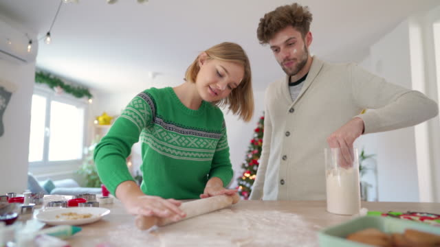 christmas baking - rolling pin stock videos & royalty-free footage