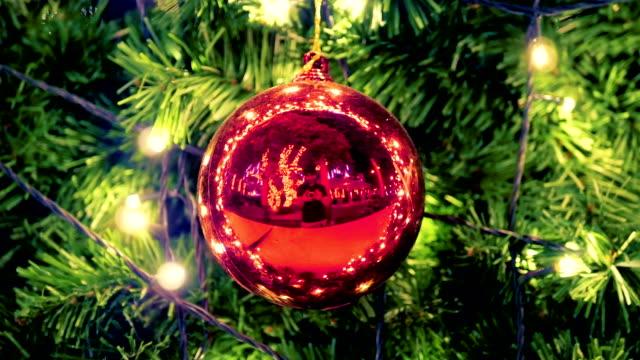 christmas ball on the branches fir - pinaceae stock videos & royalty-free footage