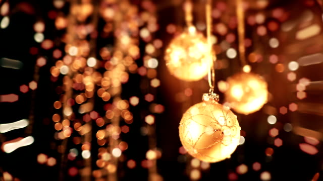 christmas ball - fairy lights stock videos and b-roll footage
