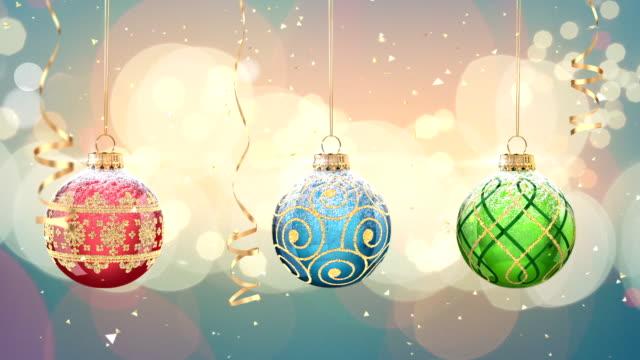 christmas ball - christmas decoration stock videos and b-roll footage