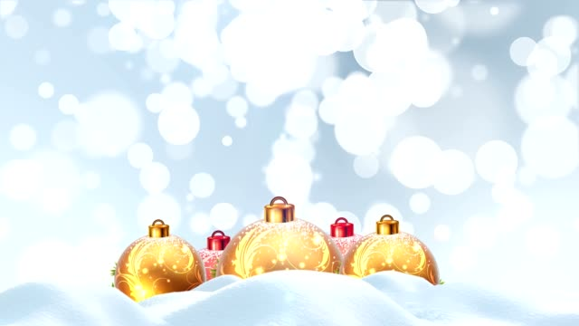 christmas balls and snow - pinaceae stock videos & royalty-free footage
