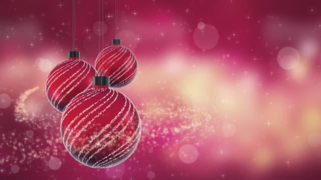 weihnachtskugeln rot - spruchband stock-videos und b-roll-filmmaterial