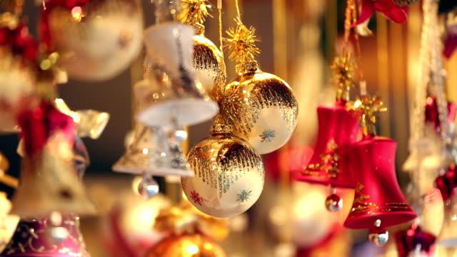 christmas balls - christmas market stock videos & royalty-free footage