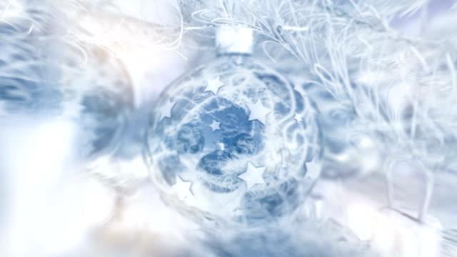 Christmas Ball mit schönen whiteblue winter-Look.