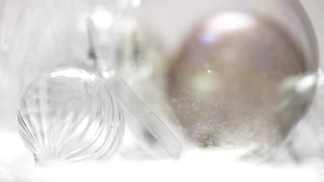 christmas baubles b    ch - silver coloured stock videos & royalty-free footage