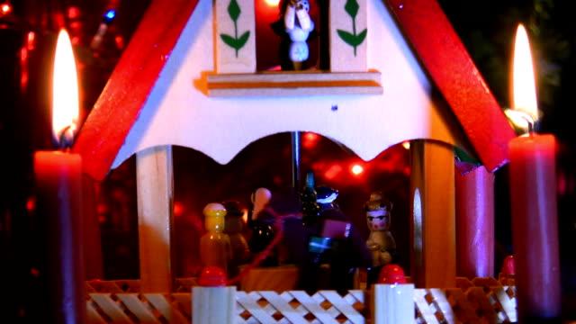 クリスマスの belen - キリスト降誕点の映像素材/bロール