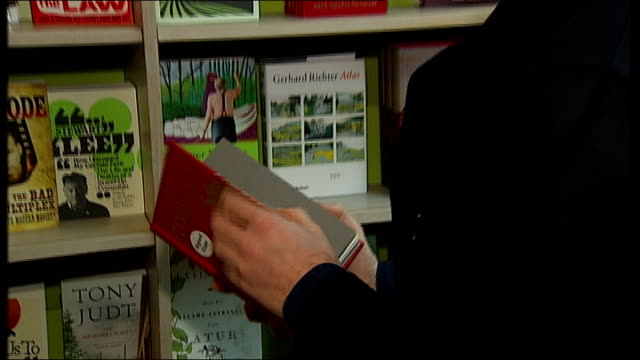 booksellers celebrate sales upturn with an unexpected bestseller england london ext waterstone's booksellers books on display in windows int jamie's... - bookseller stock videos and b-roll footage