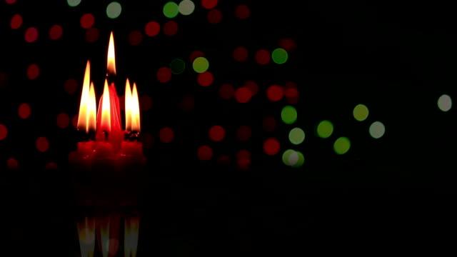 christmas candle and firework