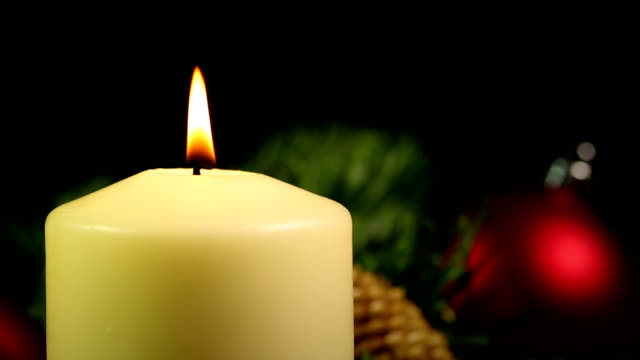 christmas candle - close up - advent stock videos & royalty-free footage