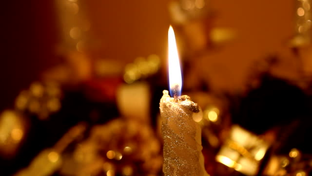 christmas candle (hd) - christmas decore candle stock videos & royalty-free footage