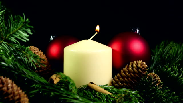 christmas candle - advent stock videos & royalty-free footage