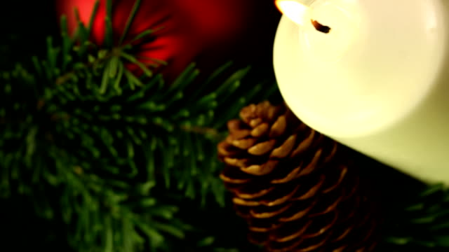 christmas candle - wreath stock videos & royalty-free footage