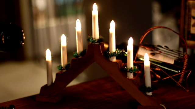 Weihnachten Kerzen und Lichter
