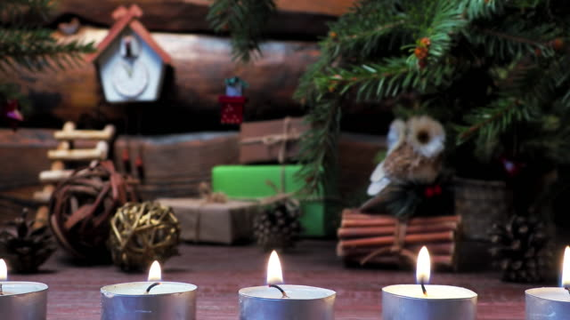 christmas candles - cozy stock videos & royalty-free footage