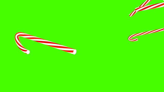 3d christmas candy canes falling background - candy cane stock videos & royalty-free footage