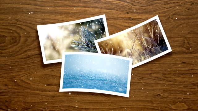 weihnachtskarte - live winter bilder (loop 4k) - bilderrahmen stock-videos und b-roll-filmmaterial