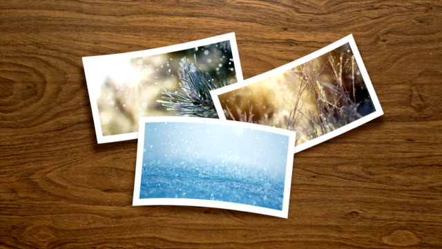 christmas card - live winter pictures (loop 4k) - polaroid stock videos & royalty-free footage