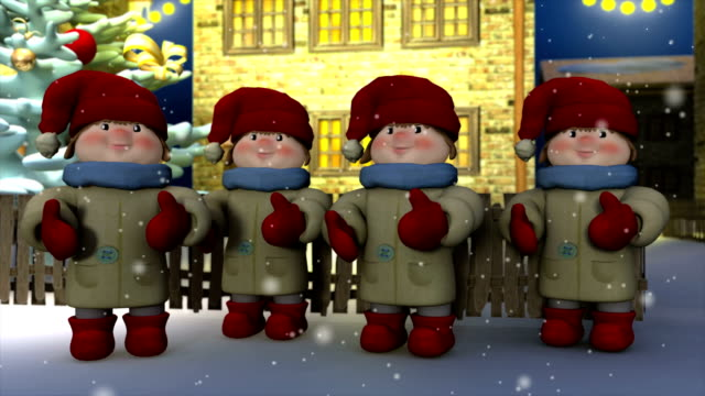 christmas carols - carol singer stock videos & royalty-free footage