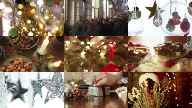 christmas composite - decorazione festiva video stock e b–roll