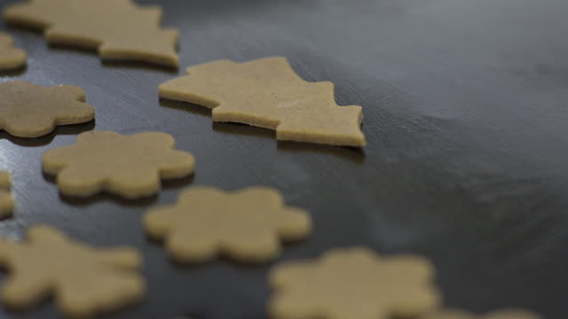 christmas cookies - back lit stock-videos und b-roll-filmmaterial